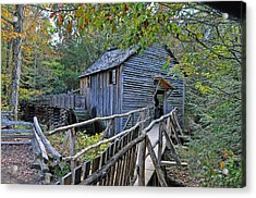 Old Mill Acrylic Print by Kenny Francis