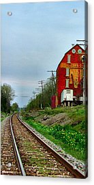 Old Mill On The Tracks Acrylic Print by Julie Dant