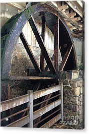 Acrylic Print featuring the photograph Old Mill Water Wheel by Jeannie Rhode