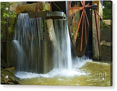 Old Mill Water Wheel Acrylic Print by Paul W Faust -  Impressions of Light