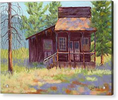 Acrylic Print featuring the painting Old Mining Store by Nancy Jolley