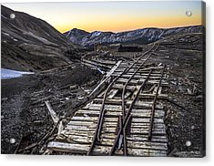 Old Mining Tracks Acrylic Print by Aaron Spong
