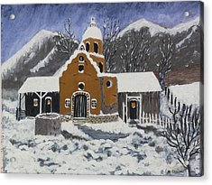 Old Mission In Winter Acrylic Print