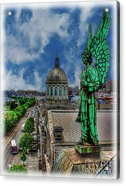 Old Montreal Angel II Acrylic Print by Lee Dos Santos