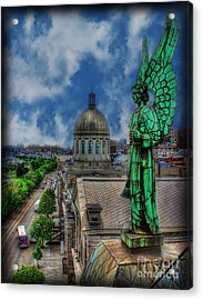 Old Montreal Angel Acrylic Print by Lee Dos Santos