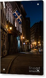 Old Montreal At Night Acrylic Print by Cheryl Baxter