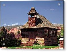 Old Mormon Church, Torrey, Utah, Usa Acrylic Print
