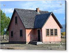 Old Mormon Home Acrylic Print by Kathleen Struckle