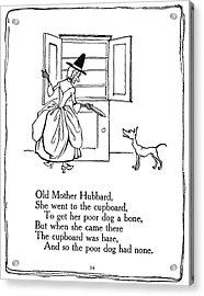 Old Mother Hubbard, 1913 Acrylic Print