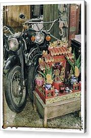Old Motorcycles East Of Bangkok Acrylic Print by River Engel