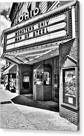 Old Movie Theater Bw Acrylic Print