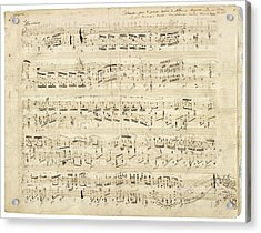 Old Music Notes - Chopin Music Sheet Acrylic Print by Tilen Hrovatic