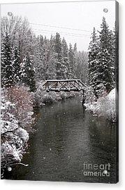 Old Nason Creek Bridge Acrylic Print