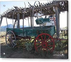 Acrylic Print featuring the photograph Old Native American Wagon by Dora Sofia Caputo Photographic Art and Design