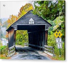 Old New Hampshire Bridge Acrylic Print