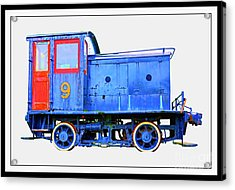 Old Number 9 - Small Locomotive Acrylic Print by Edward Fielding