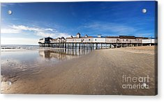 Old Orchard Beach Panorama Acrylic Print by Jane Rix