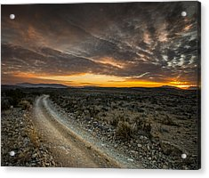Old Ore Road Sunset Acrylic Print