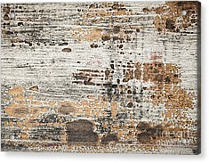 Old Painted Wood Abstract No.1 Acrylic Print