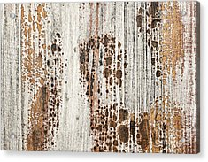 Old Painted Wood Abstract No.2 Acrylic Print by Elena Elisseeva