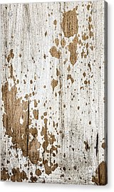Old Painted Wood Abstract No.3 Acrylic Print by Elena Elisseeva