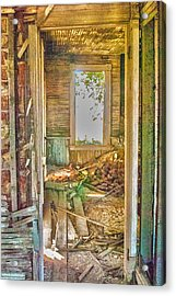 Old Pastel House Acrylic Print by Kimberleigh Ladd