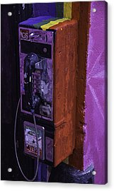 Old Pay Phone Acrylic Print