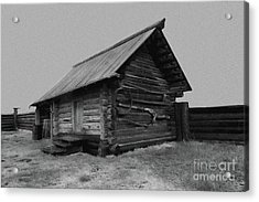 Old Peasant House 2 Acrylic Print by Evgeniy Lankin