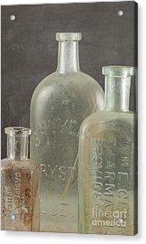 Old Pharmacy Bottle Acrylic Print by Juli Scalzi