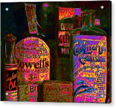Old Pharmacy Bottles - 20130118 V2a Acrylic Print by Wingsdomain Art and Photography