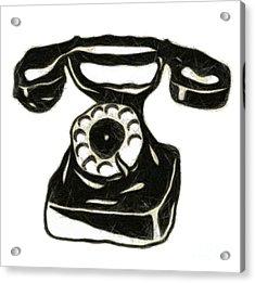 Old Phone Acrylic Print by Michal Boubin