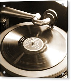Old Phonograph Acrylic Print by Mike McGlothlen