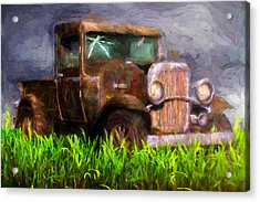 Old Pickup Acrylic Print by Bob Orsillo