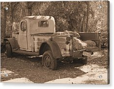 Old Pickup Acrylic Print by David Rizzo