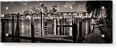 Old Pier Acrylic Print by Celso Diniz