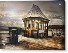 Old Pier Shop Acrylic Print