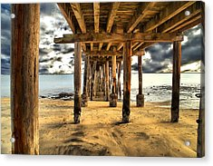 Old Pillar Point Pier Acrylic Print