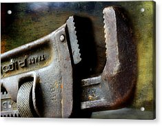 Old Pipe Wrench Acrylic Print by Michael Eingle