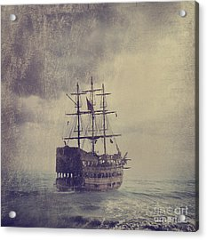 Old Pirate Ship Acrylic Print by Jelena Jovanovic