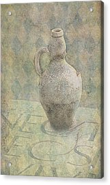Old Pitcher Abstract Acrylic Print by Garry Gay