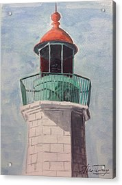Old Point Comfort Acrylic Print by Stan Tenney
