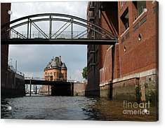 Old Police Station In Hamburg Acrylic Print