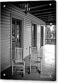 Old Porch Rockers Acrylic Print by Perry Webster