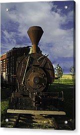 Acrylic Print featuring the photograph Old Prairie Train by Judy Hall-Folde