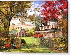 Old Pumpkin Farm Acrylic Print by Dominic Davison