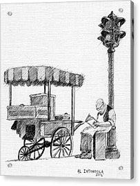Old Pushcart Acrylic Print