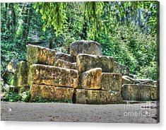 Old Quarry Stones Acrylic Print