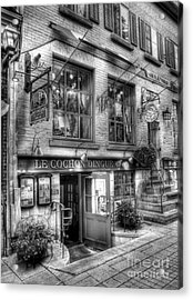Old Quebec City 3 Acrylic Print by Mel Steinhauer