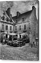Old Quebec City Bw Acrylic Print by Mel Steinhauer