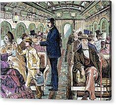 Old Railroad Car Acrylic Print